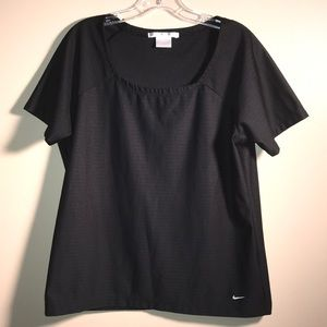 Nike Golf Fit Dry Black Square Neck Athletic Top